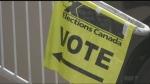 Voter sign at Caruso Club in Sudbury