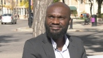 Peter Maduakor cast his ballot for the first time in Canada on Sept. 20, 2021. (Carla Shynkaruk/CTV News)