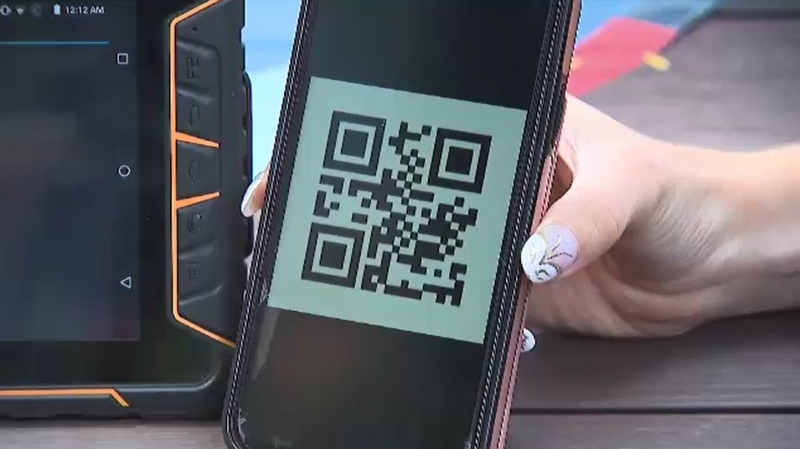 Proof of vaccination QR code