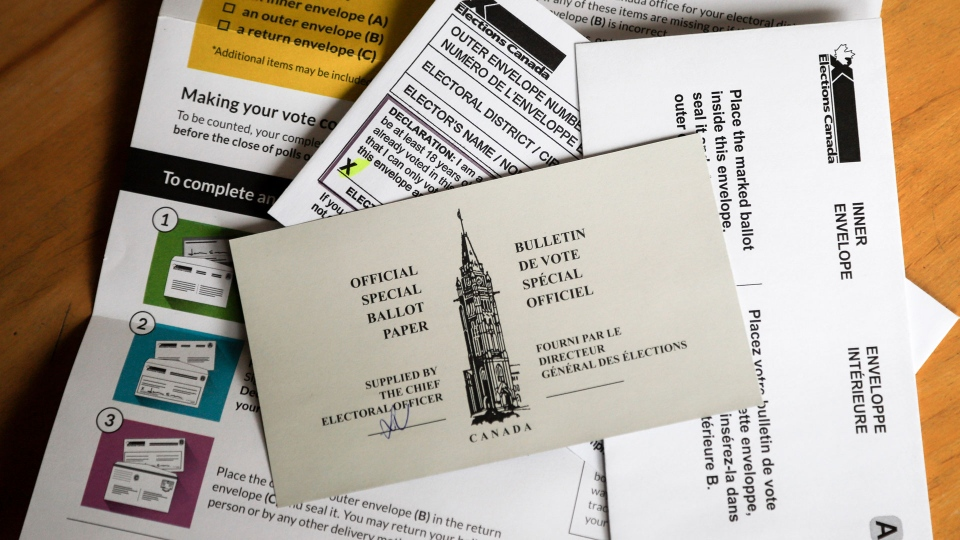 Mail-in ballot, voting