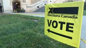 Poll station in Edmonton on Sept. 20, 2021. (CTV News Edmonton)