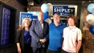 Conservative Doug Shipley stands with his family on Mon., Sept. 20, 2021. (CTV NEWS BARRIE)