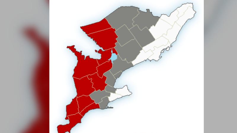Rainfall warning for central Ontario (Environment Canada)