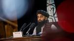 Taliban government spokesman Zabihullah Mujahid holds a press conference in Kabul, Afghanistan, on Sept. 21, 2021. (Bernat Armangue / AP)