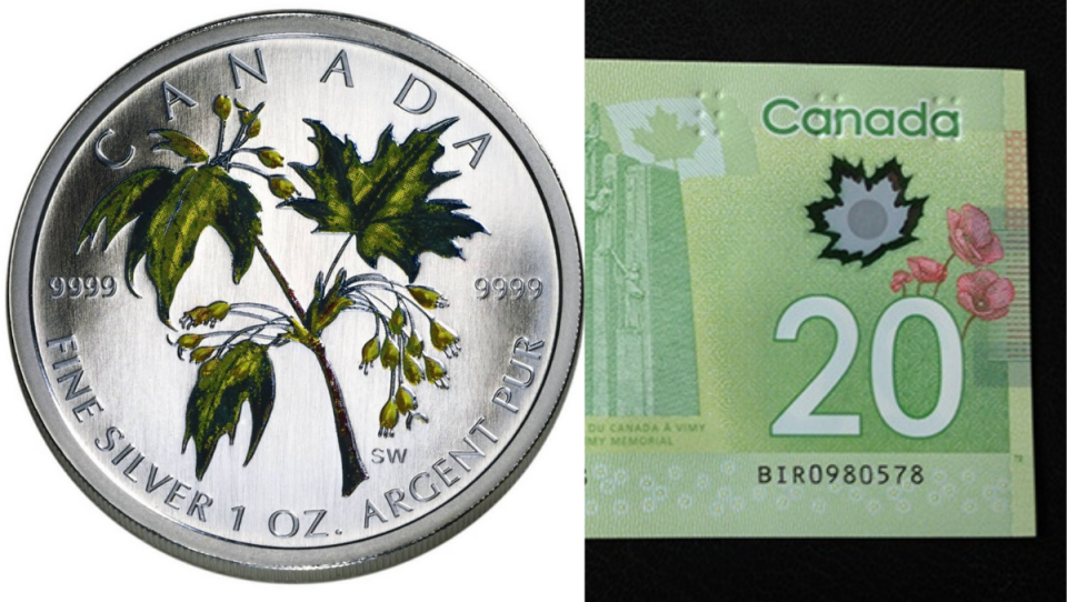 Norway Maple used on Canadian currency
