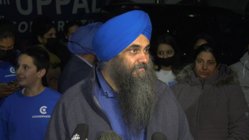 """Mill Woods incumbent candidate Tim Uppal sid """"there was really no reason to have"""" the 2021 federal election."""