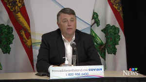 """""""We're in a much better situation today than we were at this time last week,"""" said P.E.I. Premier Dennis King during a news update on Tuesday, Sept. 21. """"While we have 47 active cases in the province, we're confident that the West Royalty School outbreak has been contained."""""""