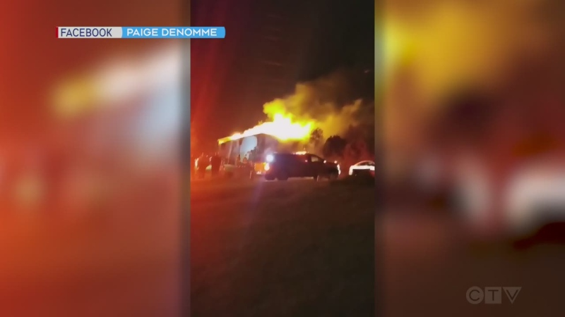 Video footage of the massive fire that destroyed a Sudbury area apartment complex. Source Paige Denomme. Sept. 21/21