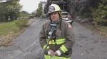Sudbury's Deputy Fire Chief Jesse Oshell talks to CTV News about the fatal fire on Antwerp Avenue overnight. Sept. 21/21 (Alana Everson/CTV Northern Ontario)