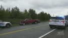 Stolen vehicle involved in series of crashes