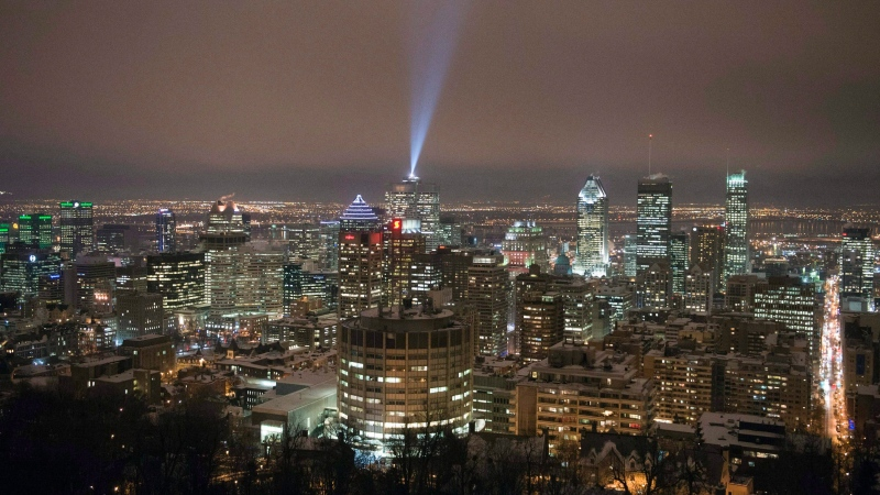 The downtown Montreal skyline is turning into a municipal election issue with the two main mayor candidates - Valerie Plante and Denis Coderre - opposed to how high developers should be allowed to build skyscrapers. THE CANADIAN PRESS/Ryan Remiorz