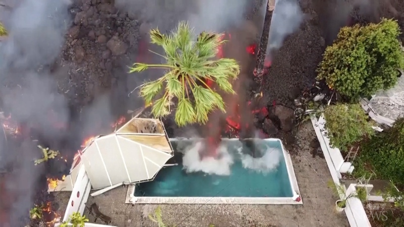Lava from the La Palma volcano has caused destruction across the Canary Islands.