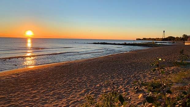 Sunrise at Winnipeg Beach. Photo by Dale Fuga.