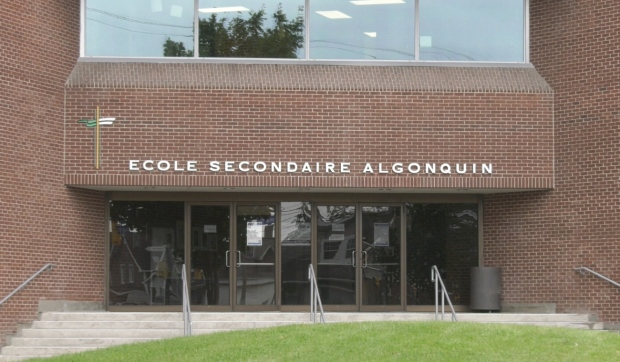 North Bay Police and the city's French Catholic school board are responding to a cellphone video that shows a group of students shouting anti-Semitic slogans on a school field. (Jaime McKee/CTV News)