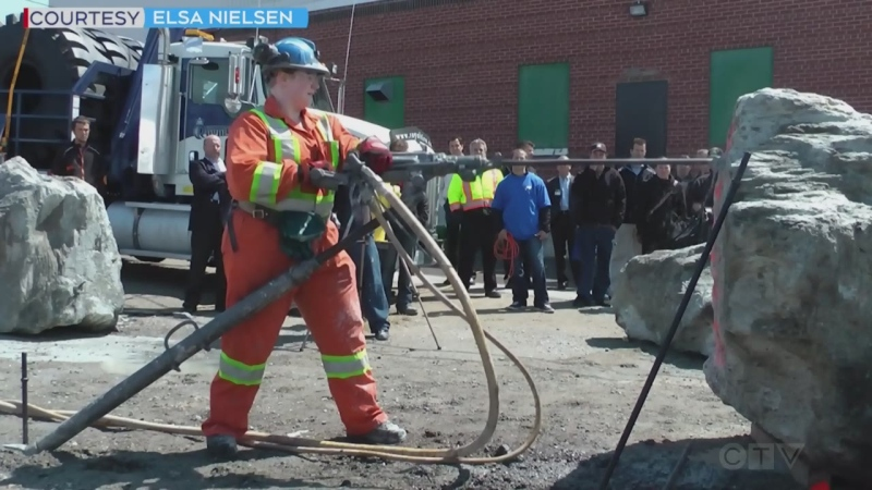 A Timmins woman shares her story of how entering a local competition got the attention of her employers and helped advance her mining career. Sept. 14/21 (Lydia Chubak/CTV Northern Ontario)