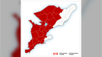Environment Canada issued a rainfall warning on Tues., Sept. 21, 2021. (Environment Canada map)