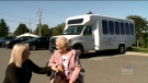 Mildred MacDonald, 94, is among the nursing home residents who enjoys using the bus for day trips. The outings have been in shorter supply during COVID-19, and now the residents' mode of transportation has been dealt a serious blow.