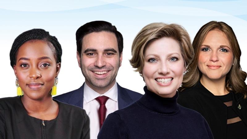(L-R) Arrielle Kayabaga, Peter Fragiskatos, Karen Vecchio, Lyndsay Mathyssen