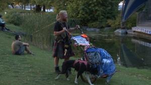 Michael Yellowlees and Luna. (Shaun Vardon / CTV News Ottawa)