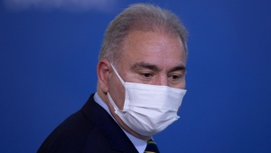 Brazilian Health Minister Marcelo Queiroga at Palacio do Planalto, in the city of Brasilia, Brazil, on September 2. (Joedson Alves/EPA-EFE/Shutterstock)
