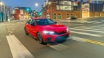 This photo from Honda shows the redesigned Civic sedan. (American Honda Motor Co. via AP)