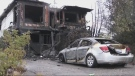 Burned out apartment building in Sudbury's Donovan neighbourhood after fatal fire. Sept. 21/21 (Alana Everson/CTV Northern Ontario)