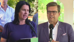 The race for Montreal mayor is shaping up to be a close one between frontrunners Valérie Plante and Denis Coderre.