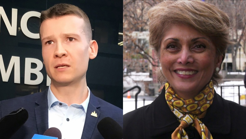 A ThinkHQ Public Affairs Inc. poll suggests 30 per cent of voters plan to vote for Jeromy Farkas for Calgary mayor and 25 per cent intend to vote for Jyoti Gondek. (file photos)
