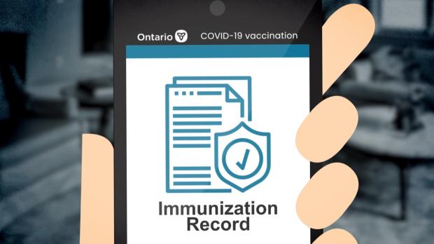 Ontario immunization record vaccine passport