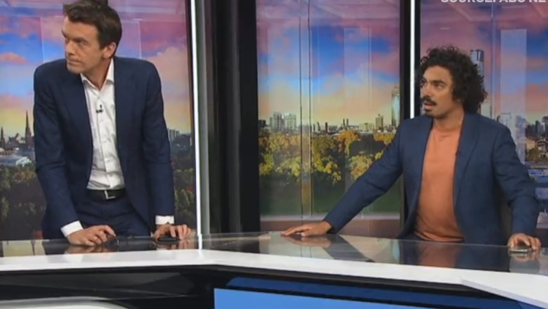 The ABC News Breakfast team reacts to feeling a magnitude 5.9 earthquake live on air.