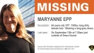 A notice for a missing woman posted by the OPP. (Twitter: @OPP_West) (Sept. 22, 2021)