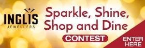 Sparkle, Shine, Shop, and Dine Contest Button