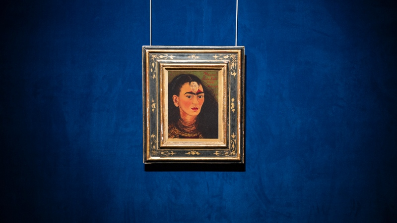A self-portrait by Frida Kahlo is expected to set a record for a work by a Latin American artist when it goes up for auction in New York later this year. (Sotheby's via CNN)