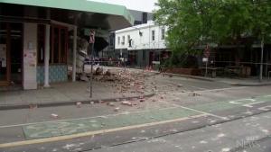 Buildings damaged by earthquake near Melbourne