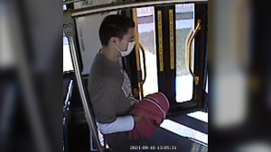 A supplied surveillance image of the suspect.