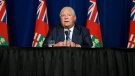 Ont. Premier Doug Ford speaks during a press conference at Queen's Park in Toronto, Wednesday, Sept. 22, 2021. THE CANADIAN PRESS/Cole Burston