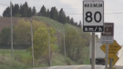A posted 80km/h road sign is pictured. (FILE IMAGE/ CTV News Barrie)