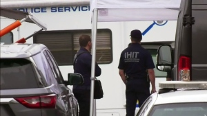 Large police presence at home of missing woman