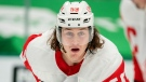 Detroit Red Wings left wing Tyler Bertuzzi (59) waits for the puck to drop during an NHL hockey game against the Dallas Stars in Dallas, in this Thursday, Jan. 28, 2021, file photo. (AP Photo/Jeffrey McWhorter, File)