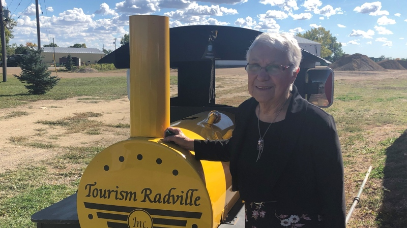 Jeannette Verhelst helped restore the Radville, Sask. CN Station into a museum and spearheaded many other projects in the town. (Mackenzie Read/CTV News)