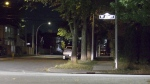 A man is in hospital with life-threatening injuries after a stabbing in north-central Edmonton. Sept. 21, 2021. (Sean Amato/CTV News Edmonton)