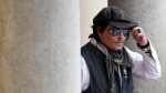 U.S. actor Johnny Depp arrives to greet fans, during the 55th Karlovy Vary International Film Festival in Karlovy Vary, Czech Republic, Saturday, Aug. 28, 2021. (AP Photo/Petr David Josek)