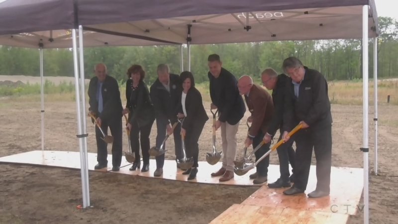 Wasaga Beach breaks ground on a new twin pad arena on Wed., Sept. 22, 2021 (Rob Cooper/CTV News)