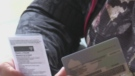An individual holds proof of vaccination in Barrie, Ont., on Wed., Sept. 22, 2021 (Siobhan Morris/CTV News)