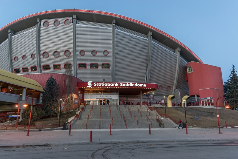 The Scotiabank Saddledome in Calgary, AB.