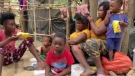 Thousands of Haitian migrants were seen attempting to enter Mexico after fleeing the United States over fears of being sent back home.