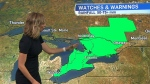 Rainfall warning in parts of Ontario