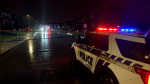 Gatineau police closed Rue Dunkerque after the discovery of three bodies in an Aylmer home. (Jackie Perez/CTV News Ottawa)