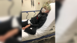 Surrey, B.C., resident Tracey Thomas's 10-year-old son ended up in hospital after catching COVID-19.