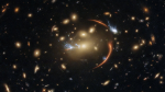 The slumbering, giant galaxy at the centre of this image is 10 billion light-years away. (ESA/Hubble & NASA, A. Newman, M. Akhshik, K. Whitaker)